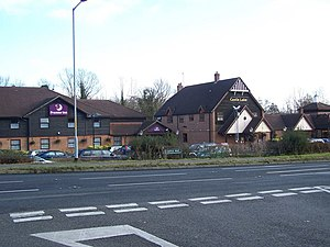Brewers Fayre - Castle Lake at Leybourne at the A228 junction 4 of the M20 near Leybourne Lakes Country Park