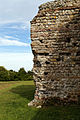 Castle Richborough Fort exterior north wall Richborough Kent England.jpg