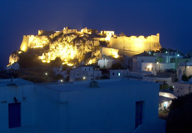 Castle of Kythira by night