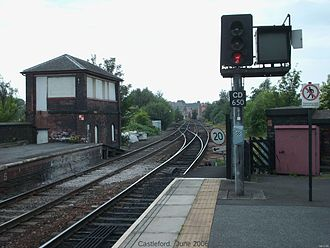 Castleford railway station -  The old signal box