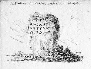 Cat Stane - Image: Cat Stane, Kirkliston, 1860