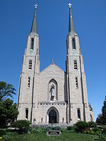 Cathedral of the Immaculate Conception (Fort Wayne, Indiana) - exterior, front.JPG