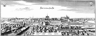 Celle Castle - Celle with its castle (right) in an engraving by Matthäus Merian, 1654