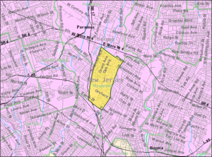Maywood, New Jersey - Image: Census Bureau map of Maywood, New Jersey