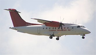 Central Mountain Air - A Central Mountain Air Dornier 328-100 on approach to Vancouver International Airport