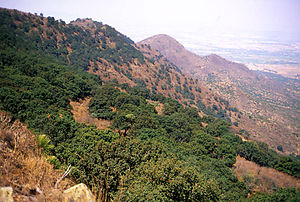 Apaxco - The Sierra de Tezontlalpan form a natural border between State of Mexico and State of Hidalgo.