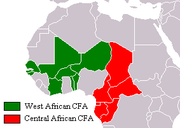 Countries where CFA franc is used
