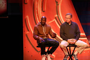 Ron Jaworski - Jaworski (right) and Chad Ochocinco at Inside ESPN NFL Live in the Premiere Theater during ESPN The Weekend, February 26, 2010