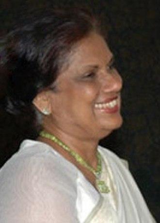 Chandrika Kumaratunga - Image: Chandrika Bandaranaike Kumaratunga As The President of Sri Lanka