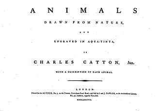Animals Drawn from Nature and Engraved in Aqua-tinta - Image: Charles Catton, Animals (1788) Page 1 Image 1
