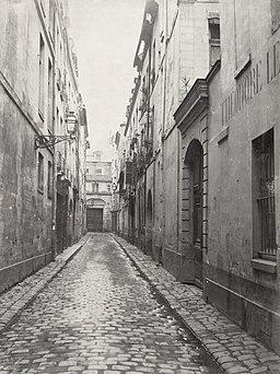 Charles Marville, Rue des Poitevins, de la rue Hautefeuille, ca. 1853–70