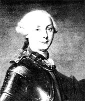 Buste d'un homme jeune portant perruque et armure