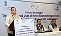 Chaudhary Birender Singh addressing at the inauguration of a National Workshop on Groundwater, in New Delhi on 28 March, 2016. The Union Minister for Science & Technology and Earth Sciences, Dr. Harsh Vardhan is also seen.jpg