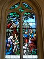 Chaumont-en-Vexin (60), église Saint-Jean-Baptiste, verrière n° 5 - le prêche de St Jean-Baptiste.JPG