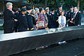 Chief of Staff of the U.S. Army Gen. Raymond T. Odierno, U.S. Army four-star generals and their spouses visit the 9-11 Memorial where the names of the victims killed in the attacks of Sept 140904-A-NX535-004.jpg