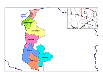 Chiengi - Location of Chiengi town and district in Luapula Province, Zambia