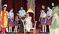 Children tying 'Rakhi' to the President, Shri Pranab Mukherjee, on the occasion of 'Raksha Bandhan', at Rashtrapati Bhavan, in New Delhi on August 18, 2016.jpg