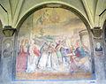 Chiostro grande di smn, lato ovest 09 santi di tito, incontro tra s. domenico e s. francesco, 1581-84.JPG