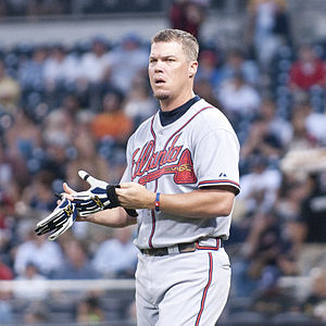 Chipper Jones - Jones during a game against the San Diego Padres in 2009