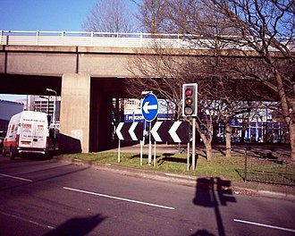 Chiswick flyover - Chiswick Roundabout with the flyover above