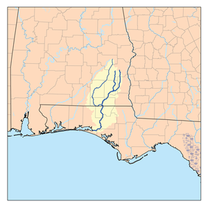 Choctawhatchee River - Map of Choctawhatchee River