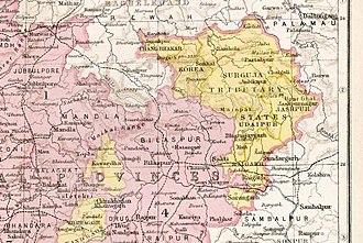 Chota Nagpur Tributary States - Chota Nagpur States; group under the Chhattisgarh States Agency