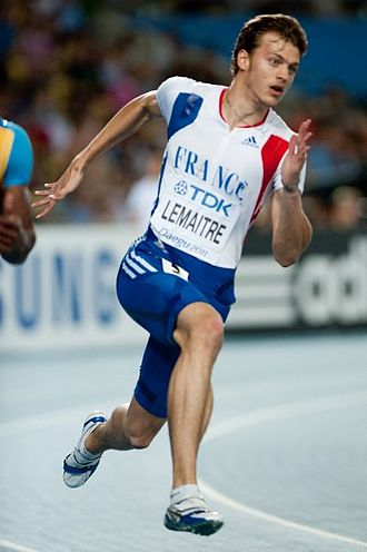 Christophe Lemaitre - Lemaitre at the 2011 World championships Athletics in Daegu.