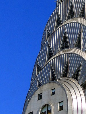 Sheet metal - Sheets of ''Nirosta'' stainless steel cover the Chrysler Building