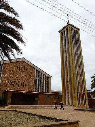 Njombe Region - The Catholic Cathedral in the Njombe region of Tanzania.