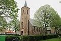 Church of Serooskerke at Schouwen-Duiveland with starting of the growth season - panoramio.jpg