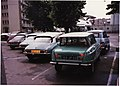 Citroen Ami 6, with 3 x DS, a 2CV and a Renault 4 (16528032895).jpg