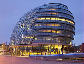 MedCity (London) - Image: City hall London at dawn (cropped)