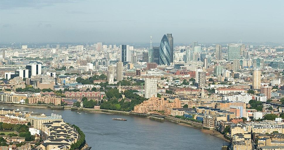 City of London Skyline from Canary Wharf - Sept 2008