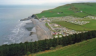 Ceredigion - Caravan park at Clarach Bay