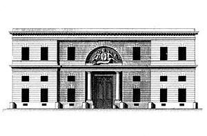 Claude Nicolas Ledoux - Hôtel d'Hallwyll, Paris, 1766. Elevation of the facade on the rue Michel-le-Comte.