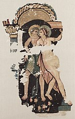 Fragment with Satyr and Maenad