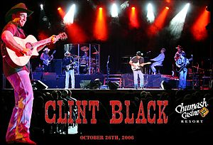 Clint Black discography - Clint Black in concert at the Chumash Casino Resort in Santa Ynez, California, on October 26, 2006.