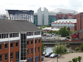 Salford Quays - A view from Clippers Quay, Salford looking over Old Trafford