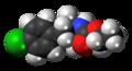 Cloforex molecule spacefill.png