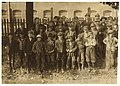 Closing hour, Saturday noon, at Dallas Mill. Every child in photos, so far as I was able to ascertain, works in that mill. When I questioned some of the youngest boys as to their ages, they LOC nclc.01914.jpg
