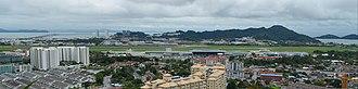 Sultan Abdul Halim Muadzam Shah Bridge - Image: Cmglee Penang airport and second bridge