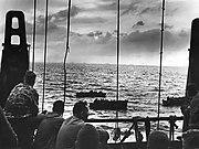 Coast Guard manned combat transport at Tarawa