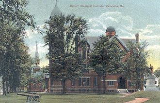 Waterville, Maine - Coburn Classical Institute (c. 1910), burned in 1955