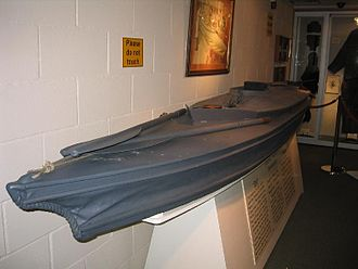 The Cockleshell Heroes - Original cockleshell canoe