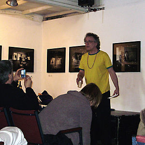Artists' Television Access - Image: Colin Smith at ATA Reading in SF