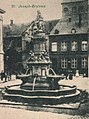 Cologne, Herman Joseph fountain on the Waidmarkt, cropped from postcard, before 1900.jpg