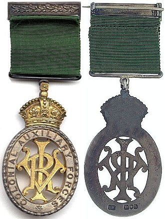 Colonial Auxiliary Forces Officers' Decoration - Image: Colonial Auxiliary Forces Officers' Decoration (Victoria)