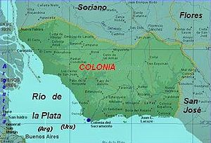 Colonia Department - Map of Colonia Department