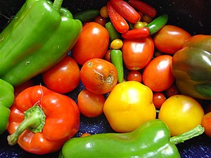 Nutrition - Colorful fruits and vegetables may be components of a healthy diet.