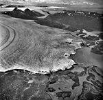 Columbia Glacier, Calving Terminus with Oblique View of Valley Glacier, Heather Island, September 9, 1973 (GLACIERS 1179).jpg